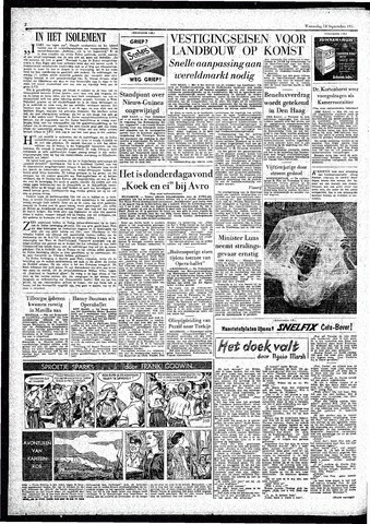 Rotterdamsch Parool / De Schiedammer 1957-09-18