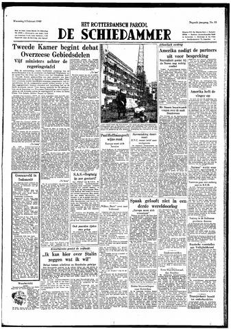 Rotterdamsch Parool / De Schiedammer 1949-02-09