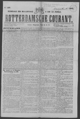 Rotterdamse Courant 1861