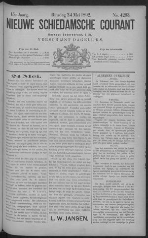 Nieuwe Schiedamsche Courant 1892-05-24