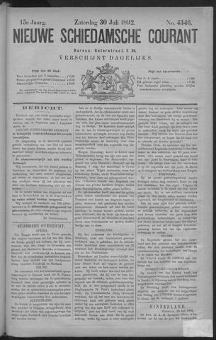 Nieuwe Schiedamsche Courant 1892-07-30