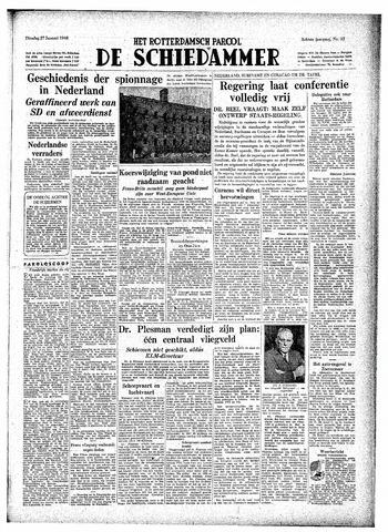 Rotterdamsch Parool / De Schiedammer 1948-01-27