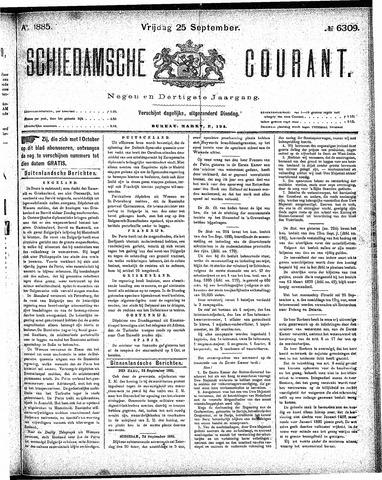 Schiedamsche Courant 1885-09-25