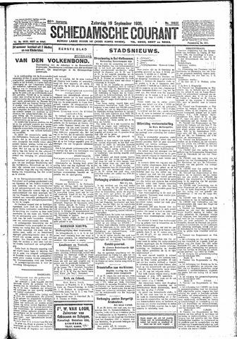 Schiedamsche Courant 1931-09-19