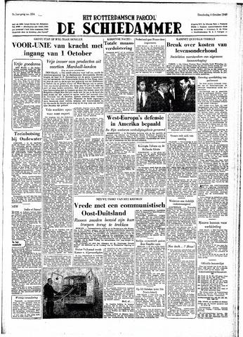 Rotterdamsch Parool / De Schiedammer 1949-10-06