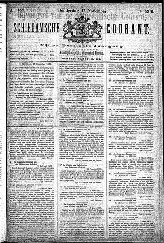 Schiedamsche Courant 1881-11-17