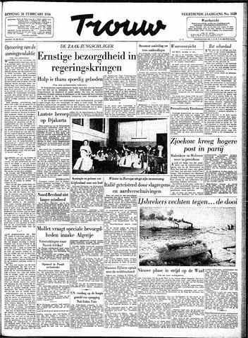 Trouw / De Rotterdammer 1956-02-28