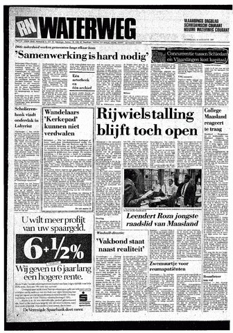 Rotterdamsch Nieuwsblad / Schiedamsche Courant / Rotterdams Dagblad / Waterweg / Algemeen Dagblad 1987-08-19