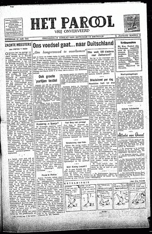 Rotterdamsch Parool / De Schiedammer 1945-06-20
