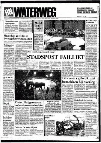 Rotterdamsch Nieuwsblad / Schiedamsche Courant / Rotterdams Dagblad / Waterweg / Algemeen Dagblad 1987-07-27