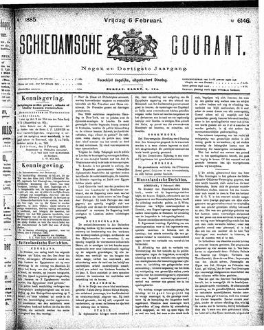 Schiedamsche Courant 1885-02-06