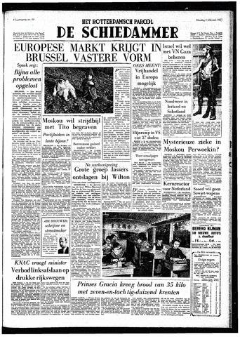 Rotterdamsch Parool / De Schiedammer 1957-02-05