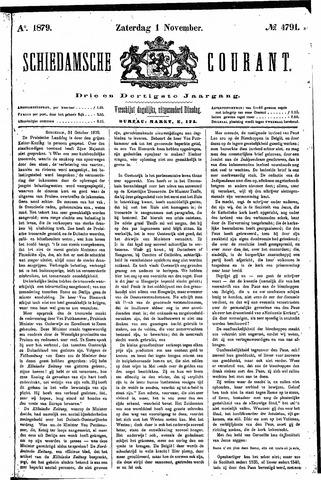 Schiedamsche Courant 1879-11-01