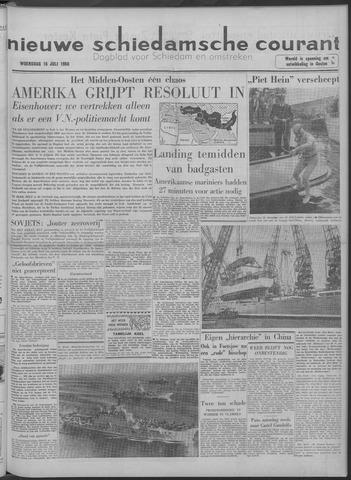 Nieuwe Schiedamsche Courant 1958-07-16