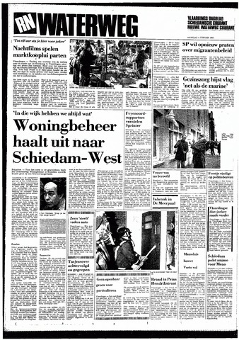 Rotterdamsch Nieuwsblad / Schiedamsche Courant / Rotterdams Dagblad / Waterweg / Algemeen Dagblad 1985-02-04