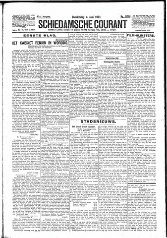 Schiedamsche Courant 1931-06-04
