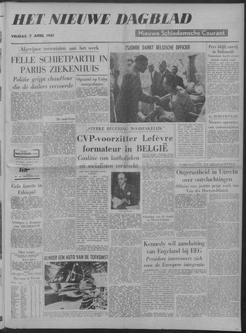 Nieuwe Schiedamsche Courant 1961-04-07