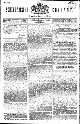 Schiedamsche Courant 1862-05-01