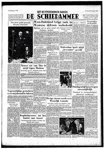 Rotterdamsch Parool / De Schiedammer 1949-11-29