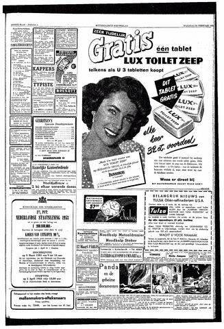 Rotterdamsch Nieuwsblad / Schiedamsche Courant / Rotterdams Dagblad / Waterweg / Algemeen Dagblad 1953-02-23