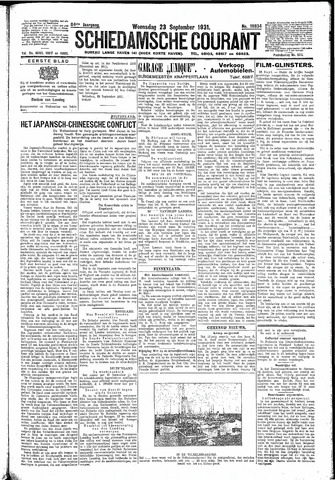 Schiedamsche Courant 1931-09-23