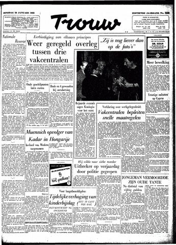 Trouw / De Rotterdammer 1958-01-28