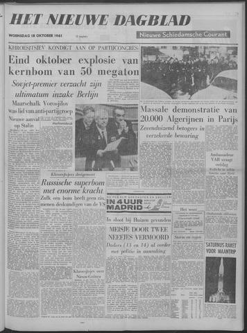 Nieuwe Schiedamsche Courant 1961-10-18