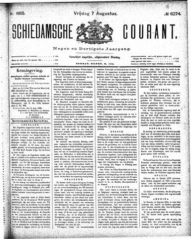 Schiedamsche Courant 1885-08-07