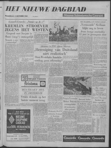 Nieuwe Schiedamsche Courant 1961-10-09