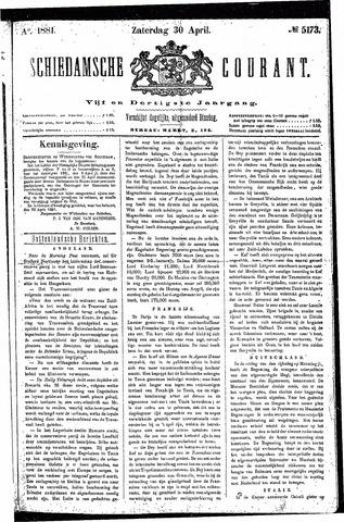 Schiedamsche Courant 1881-04-30