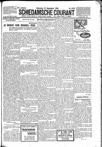 Schiedamsche Courant 1931-09-12