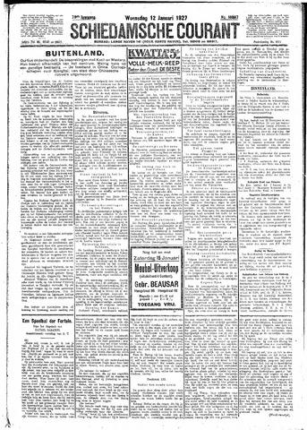 Schiedamsche Courant 1927-01-12