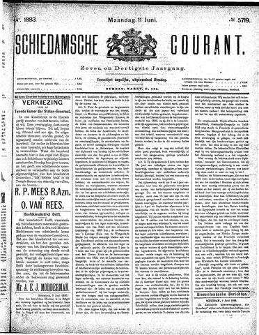 Schiedamsche Courant 1883-06-11