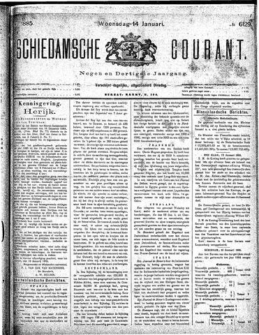 Schiedamsche Courant 1885-01-14