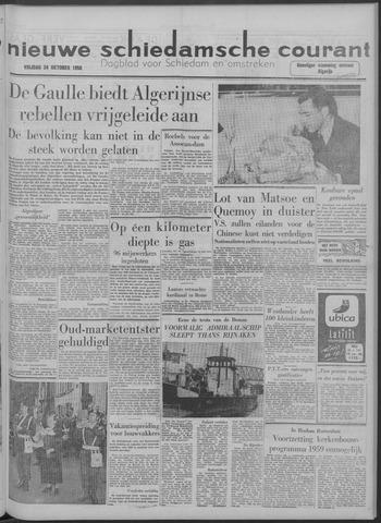 Nieuwe Schiedamsche Courant 1958-10-24