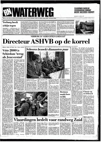 Rotterdamsch Nieuwsblad / Schiedamsche Courant / Rotterdams Dagblad / Waterweg / Algemeen Dagblad 1987-04-14