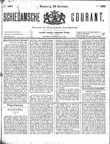 Schiedamsche Courant 1883-10-29