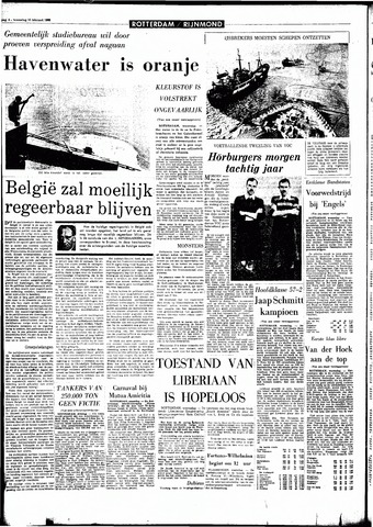 Rotterdamsch Parool / De Schiedammer 1966-02-16