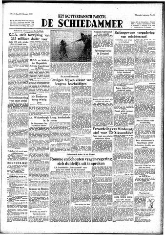 Rotterdamsch Parool / De Schiedammer 1949-02-10