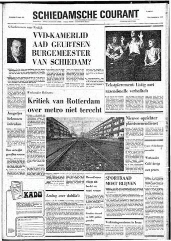 Rotterdamsch Nieuwsblad / Schiedamsche Courant / Rotterdams Dagblad / Waterweg / Algemeen Dagblad 1974-03-27