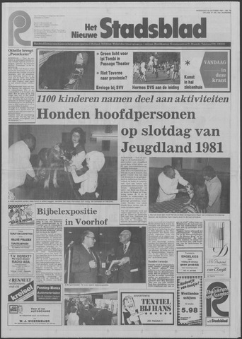 Het Nieuwe Stadsblad 1981-10-28