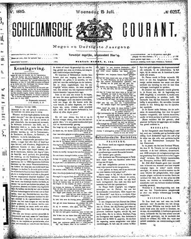 Schiedamsche Courant 1885-07-15