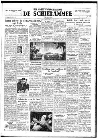 Rotterdamsch Parool / De Schiedammer 1947-10-08