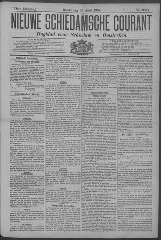 Nieuwe Schiedamsche Courant 1909-04-29