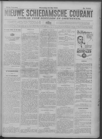 Nieuwe Schiedamsche Courant 1929-05-22