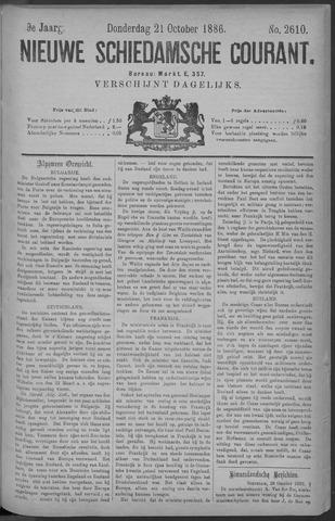 Nieuwe Schiedamsche Courant 1886-10-21