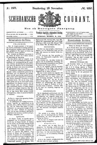 Schiedamsche Courant 1877-11-29