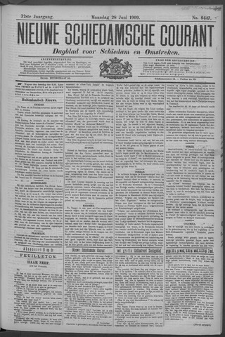 Nieuwe Schiedamsche Courant 1909-06-28