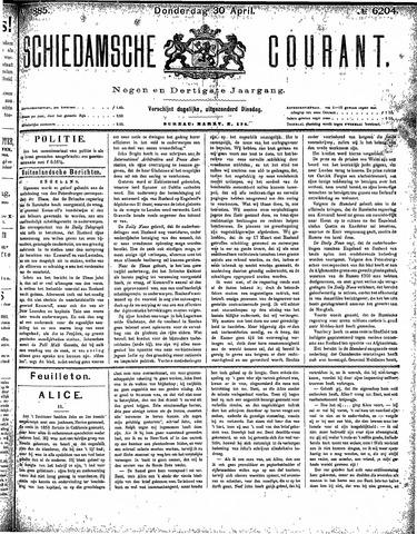 Schiedamsche Courant 1885-04-30