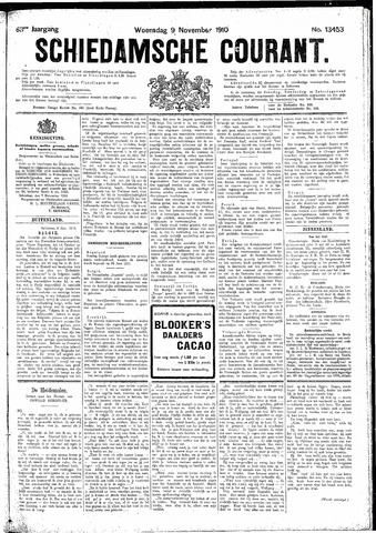 Schiedamsche Courant 1910-11-09